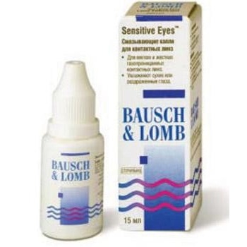 капли Sensitive Eyes 15 ml, B&L